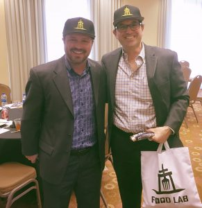 Brad Umansky (right) and Jerry Tessier visit Riverside Food Lab